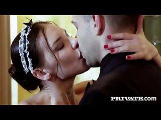 Private maid henessy betrays Natalie starr and fucks boyfriend