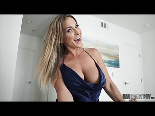 Hot mom fucks husband while fantasizing about him fucking his step daughter