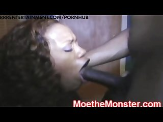 Moe the monster gives sydnee capri an big black cock anal creampie slaying