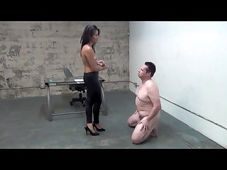 Goddess angelina Ballbusting at the office