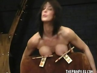 Busty bondage of Daniela in hardcore nipple clamped punishment