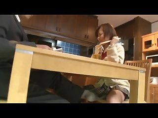 Under the table with the schoolgirl 3