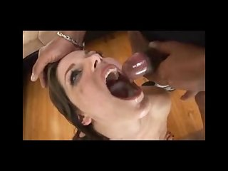Cum guzzling slut can t get enough