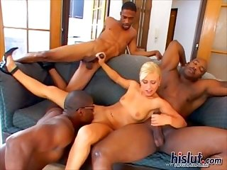 Lucy gangbang interracial