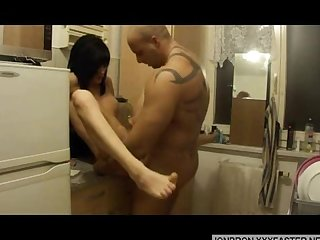 Amateur shemale fucking in kitchen