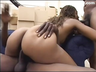 Big ass black girl threesome