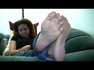 Mixed girl lailas candid stinky soles