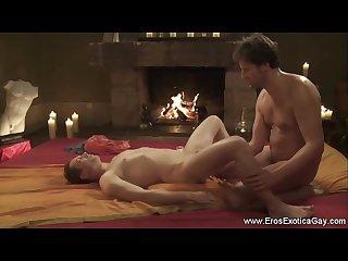 Relaxing anal gay ritual