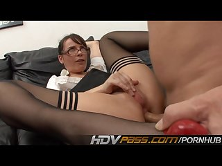 Hot teacher dana dearmond gets hard anal and jizz