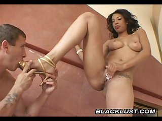 Sweet ebony desiree diamond doggystyle fucking