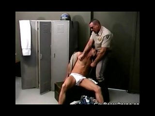 Cock sucking cops in the locker room