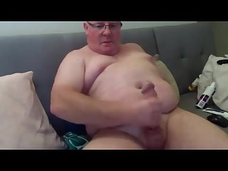 Chubby daddy with big fat dick