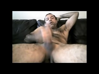 Hairy daddy couch cumpilation