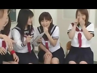 Japanese school orgy with the teacher
