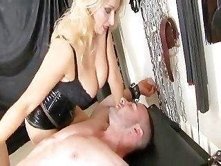 Uk mistress milks a dick