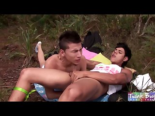 Twink boy media two horny twink boys fucking and cumming in the woods