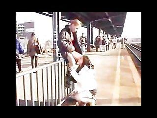 Lesbians in public Train station