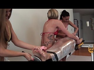 Milf Nikki wrapped and tickled x3