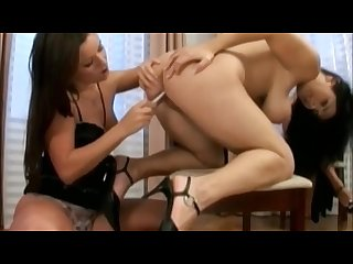 Klenot and jana eating pussy and dildo