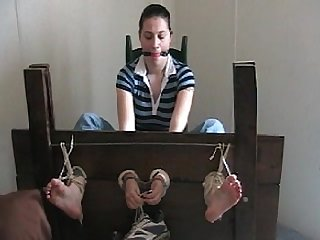 Helpless soles tickled in stocks part 1