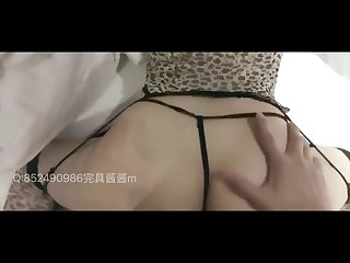 Sexy Chinese Girl in Leopard Dress Sensual Creampie and Cum in Mouth