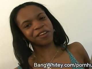 Black girl loves to suck white dick