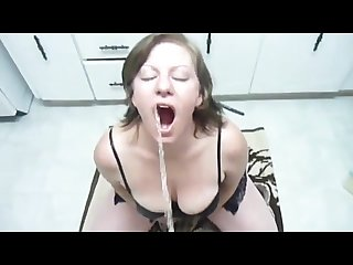 Golden shower busty milf and a surprise