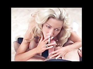 Blonde milf smoking fetish bj