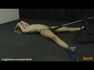 Lyra is bound helpless spread wide and cumming