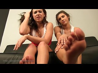 2 girls feet