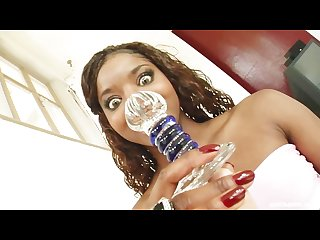 British ebony Jasmine webb double fucked