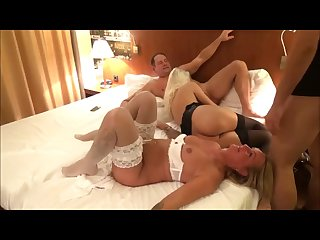 REAL amateur swingers party two blonde sluts fucking two guys