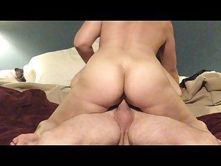 Hot bodied milf rides dick till its dained