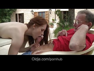 Big old dick satisfy a horny young girl