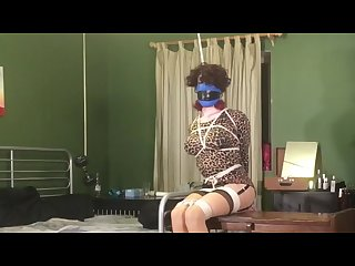 Tranny goes home with the wrong man bound and hung