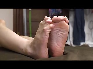 Hot babe foot worship and footjob