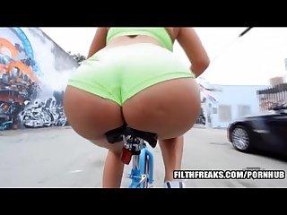 Big butt scary milf bike rides