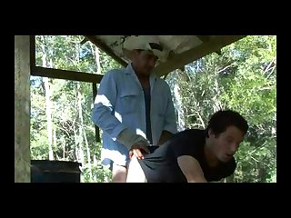 Aussie cowboy caught a guy playing with his ass