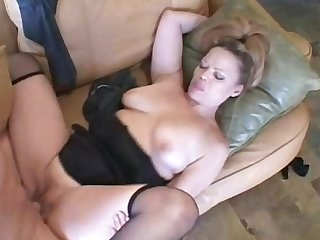 Horny mature blonde teaches him how to screw