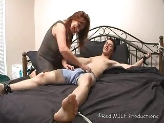 Straight dude tickled by milf