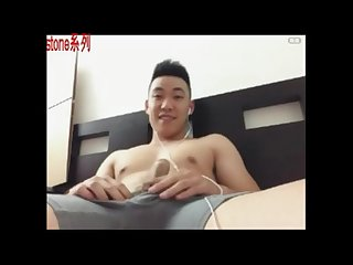 Chinese fit student Jerking off - Stone Collectionl ????