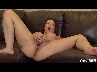 Kelly divine with the dildo in her ass