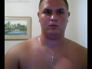 Straight chub jackoff