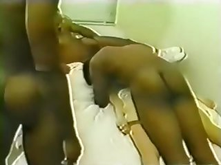 Vintage interracial sex held down and fucked