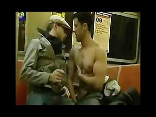 Big dick subway train sex