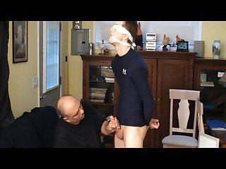 Straight captive boy tied and gagged made to cum