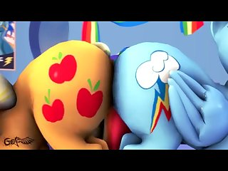 Rainbow Dash and Applejack share dido.