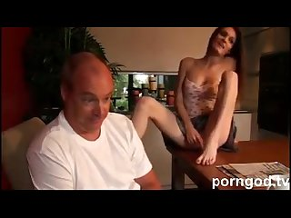 Teen step daughter seduces daddy