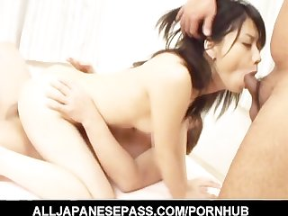 Busty hot milf miki uehara riding dick
