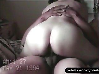 Vintage sextape of chubby wife getting fucked good